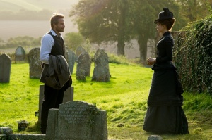 "Matthias Schoenaerts as ""Gabriel"" and Carey Mulligan as ""Bathsheba"" in FAR FROM THE MADDING CROWD. Photos by Alex Bailey.  © 2014 Twentieth Century Fox Film Corporation All Rights Reserved"